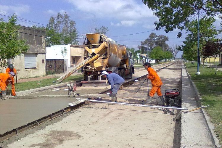 En las próximas semanas la comuna continuará con los trabajos por calle San Martín. Foto: Comuna de Sa Pereira