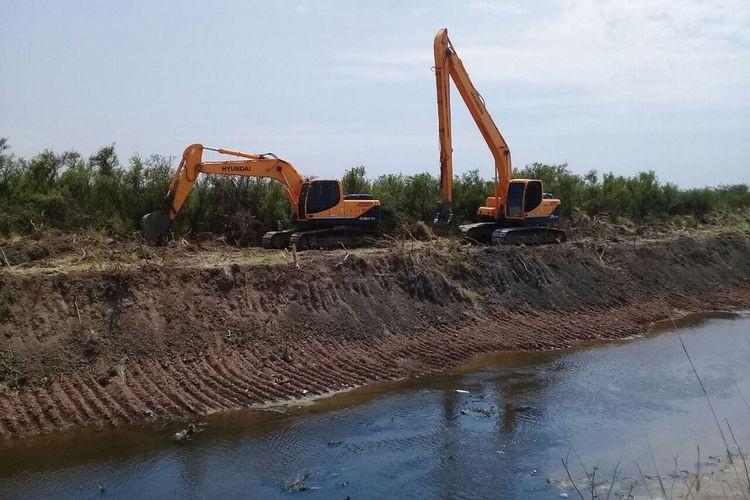 Ese trabajo en el Arroyo Los Corrales se extendió aguas arriba de la Ruta Provincial N° 68-S, hasta su inicio, constituido por la unión del canal principal Calavera y el canal principal Las Penquitas. Foto: Gobierno