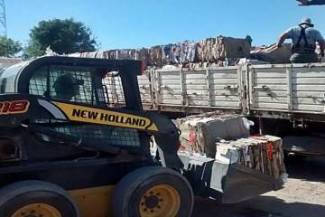 En total los materiales vendidos sumaron 19.240 kilogramos de material reciclado.  Foto: Comuna