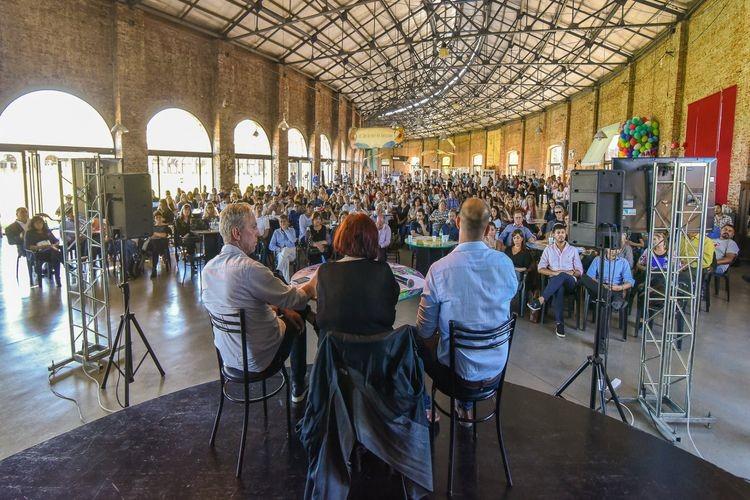 La presentación estuvo encabezada por la ministra de Innovación y Cultura, María de los Ángeles González; junto al secretario de Producciones, Industrias y Espacios Culturales, Pedro Cantini; y el secretario de Desarrollos Culturales, Paulo Ricci. Foto: Gobierno