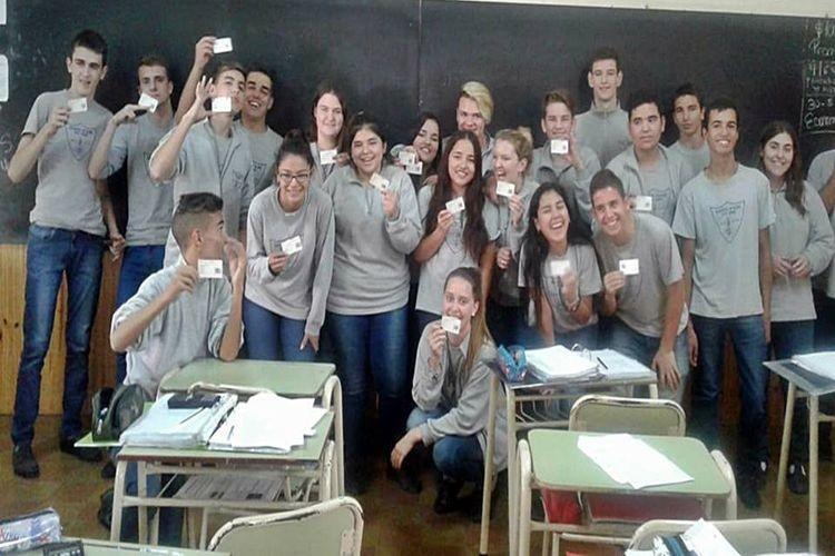"""Dicha capacitación estuvo a cargo de la responsable local Lic. Rocío Lorenz. El encuentro fue dirigido, fundamentalmente, a alumnos de 4to año de la EESOPI Nº 8128 """"San José"""". Foto: Comuna"""