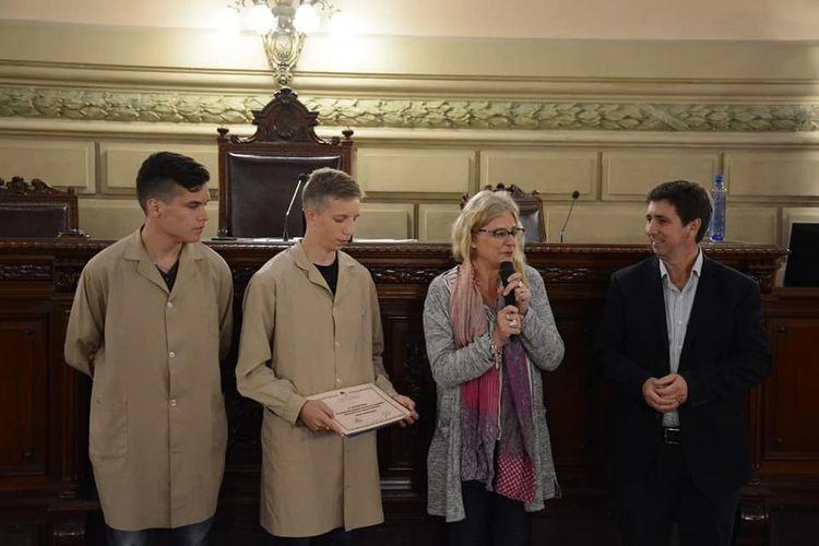 El legislador agregó que durante la jornada se realizó un homenaje a propuestas de los alumnos a Miguel Ottonelli y a Luis Dayer. Foto: Prensa Pirola