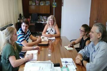 De la reunión también participaron el Director Provincial de Escuelas Técnicas Pablo Iván Vossa y la Diputada Provincial Victoria Tejeda, con el objetivo de promover la oferta educativa relativa a la temática de energías renovables. Foto: Archivo